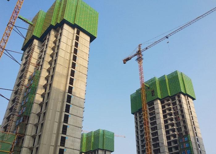 郑州阳光园爬架工程