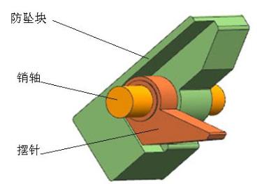 HD--02A全钢爬架防坠装置